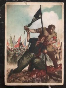 1942 Italy Facist Picture fieldpost Postcard cover WW2 desperate to Gambellara