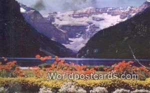 Lake Louise & Victoria Glacier Banff National Park Canada Writing On Back