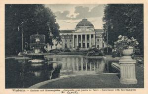 Germany Wiesbaden Kurhaus mit Blumengarten 02.74