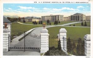 Oteen North Carolina~US Veterans Hospital No 60~Front Gate~Buildings~1931 PC