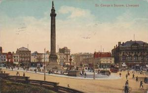 St. George´s Square, Liverpool, Lancashire, England, United Kingdom, PU-1918