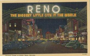 RENO, Nevada, 1943 ; Virginia Street, night