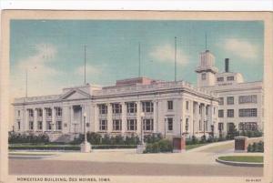 Iowa Des Moines Homestead Building 1936 Curteich