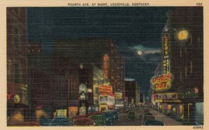 LOUISVILLE, Kentucky, 30-40s; Fourth Ave. At Night