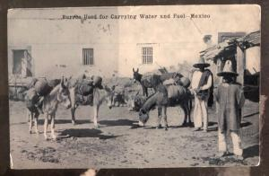 1914 New Jersey USA RPPC Postcard Cover To Newton MA Burros Used For Carrying