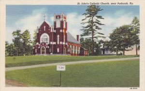 Exterior,  St. John's Catholic Church,  near Paducah,  Kentucky,   30-40s