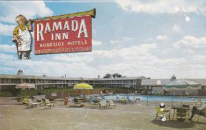 TULSA, Oklahoma, 1940-1960's; Ramada Inn, Swimming Pool, Highway 44