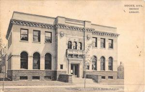 Boone Iowa Ericson Library Street View Antique Postcard K50050