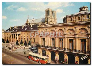Modern Postcard Reims Marne Place Myon Herrick the theater in the background ...