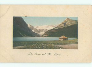 Divided-back LAKE SCENE Lake Louise Alberta AB AE4881