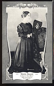 USA Silent Movie Stars Mabel Ballin Sheffer Kings & Qieens Series 1922