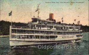 Hudson River Day Line Steamer Peter Stuyvesant, Steamer Ship Ships Postcard...