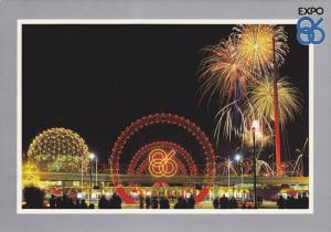 A spectacular fireworks display marks the opening of Expo Centre,  Vancouver,...