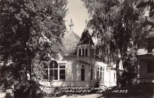 Malvern Iowa~Methodist Church in Trees~House~1940s Real Photo Postcard~RPPC
