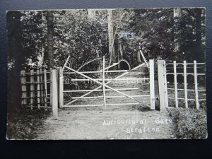 STRATTON Agricultural Gate made with Sythe Rake & Pitchfork Pre 1914 RP Postcard
