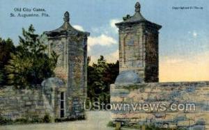 Old City Gates St Augustine FL Unused