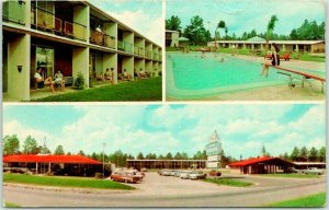 Folkston, GA Postcard HOWARD JOHNSON'S MOTOR LODGE Highway 301 Roadside c1960s