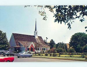 Unused Pre-1980 OLD CARS & CHURCH SCENE Rehoboth Beach Delaware DE p3801@