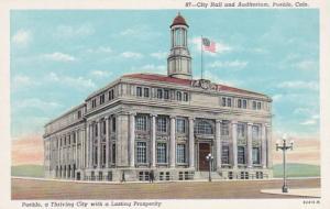 Colorado Pueblo City Hall and Auditorium Curteich