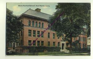 ft982 - State Normal School , New Haven , Conn , USA  - postcard