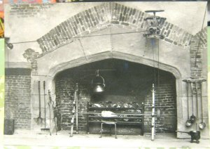 England Middlesex Hampton Court Palace Model of Tudor Fireplace - unposted marke