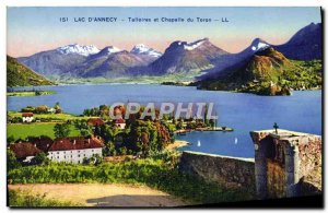 Old Postcard Lake D & # 39Annecy And Talloires Chapelle Du Toron