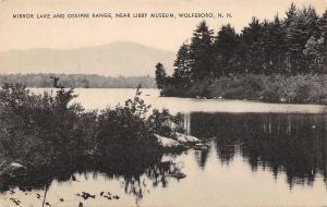 Wolfeboro New Hampshire~Mirror Lake~Ossipee Range~Near Libby Museum~1939 B&W PC