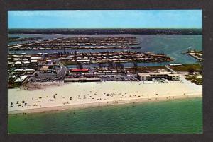 FL Beach Treasure Island Holiday Isles nr St Petersburg FLORIDA Postcard PC