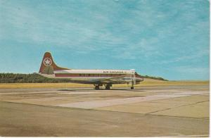 ST. JOHN, N.B., Canada, 50-60s ; AIR CANADA Viscont Airplane on the Tarmac