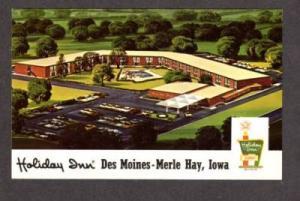 IA Holiday Inn Des Moines Merle Hay Rd IOWA POSTCARD PC