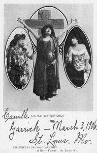 Sarah Bernhardt Actress Vintage Postcard AA14330