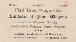 BC : Fish Bros. Wagon Company , CAMBRIDGE , Mass. , 1890s Builders of Fine W...