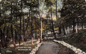 Wiliamsport PA~Sylvan Dell Park~Rock Lined Path~Ladies on Hotel Porch~1908 PC