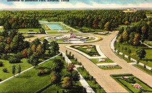 Texas Houston Hermann Park Entrance