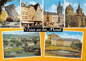 Trier an der Mosel, Markt Dom Gesamtansicht Porta Nigra Fachwerkhaeuser
