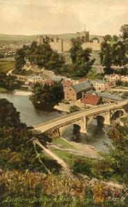 UK - England, Ludlow, Ludlow Dinham Bridge & Castle