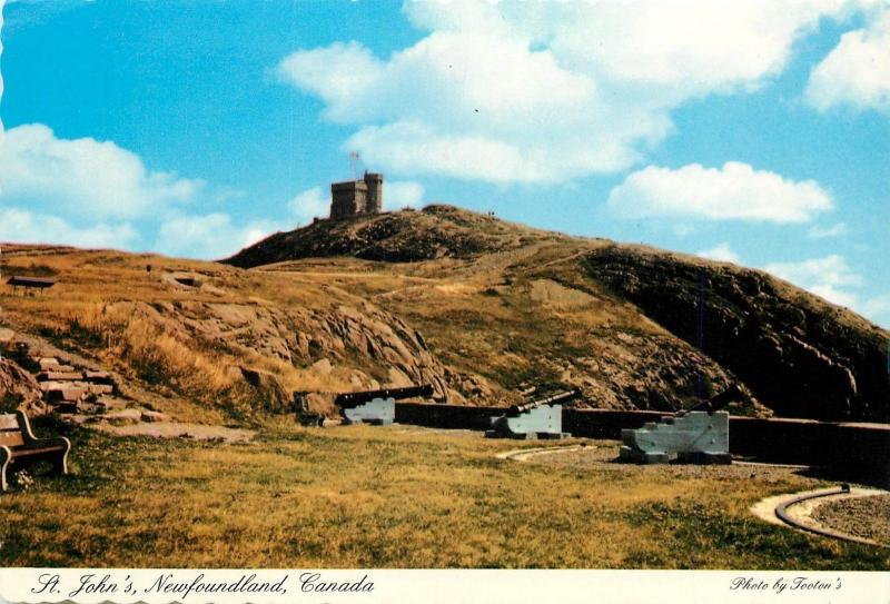 Queens Battery Cabot Tower St Johns Newfoundland Canada Postcard