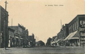 Tracy Minnesota~Street Scene~Dry Goods~Groceries~Land Co~Dirt Road~1908 Postcard