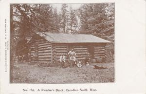 Rancher's Shack, Log Cabin, Family W/ Dogs, Canadian NW, Canada, 00-10s
