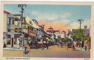 Bahamas Nassau Bay Street Curteich sk3343