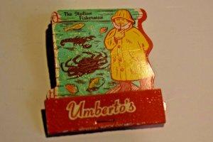 Umberto's The Italian Fisherman Streamwood Illinois Map Matchbook
