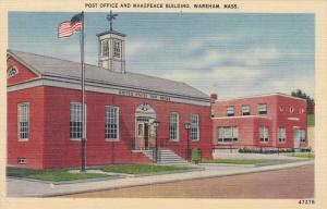 Post Office , WAREHAM , Massachusetts , 30-40s