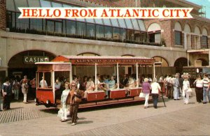 New Jersey Atlantic City Hello Showing Trolley 1982