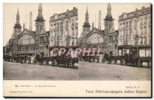 Belgium Belgie Old Postcard Antwerp The covered market