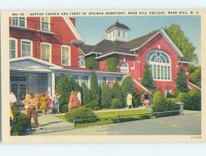 Linen CHURCH AND DORM AT MARS HILL COLLEGE Mars Hill North Carolina NC L4705@