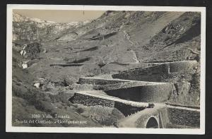Tremola Valley Gotthard Road Switzerland RPPC Unused c1920s
