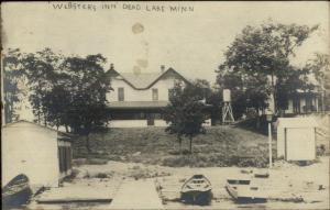 Dead Lake MN Webster's Inn c1910 Real Photo Postcard