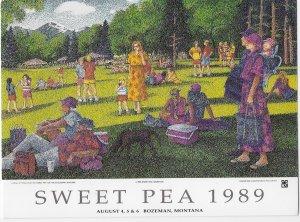 Bozman Montana Sweet Pea 3 Day Festival August 1989 Bozeman Montana 4 by 6 Size