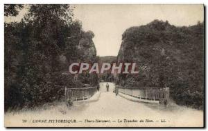 Old Postcard Thury Harcourt The Tranchee of Hom