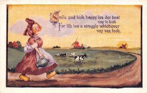 Cobb Shinn~Dutch Girl~Look Happy~Life is a Struggle Whichever~Dairy Cows~1912 PC